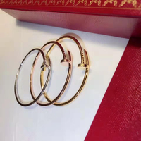 2019 hot s925 sterling silver, nail bracelet, temperament OL, French quality, classic fashion, ladies open bracelet,