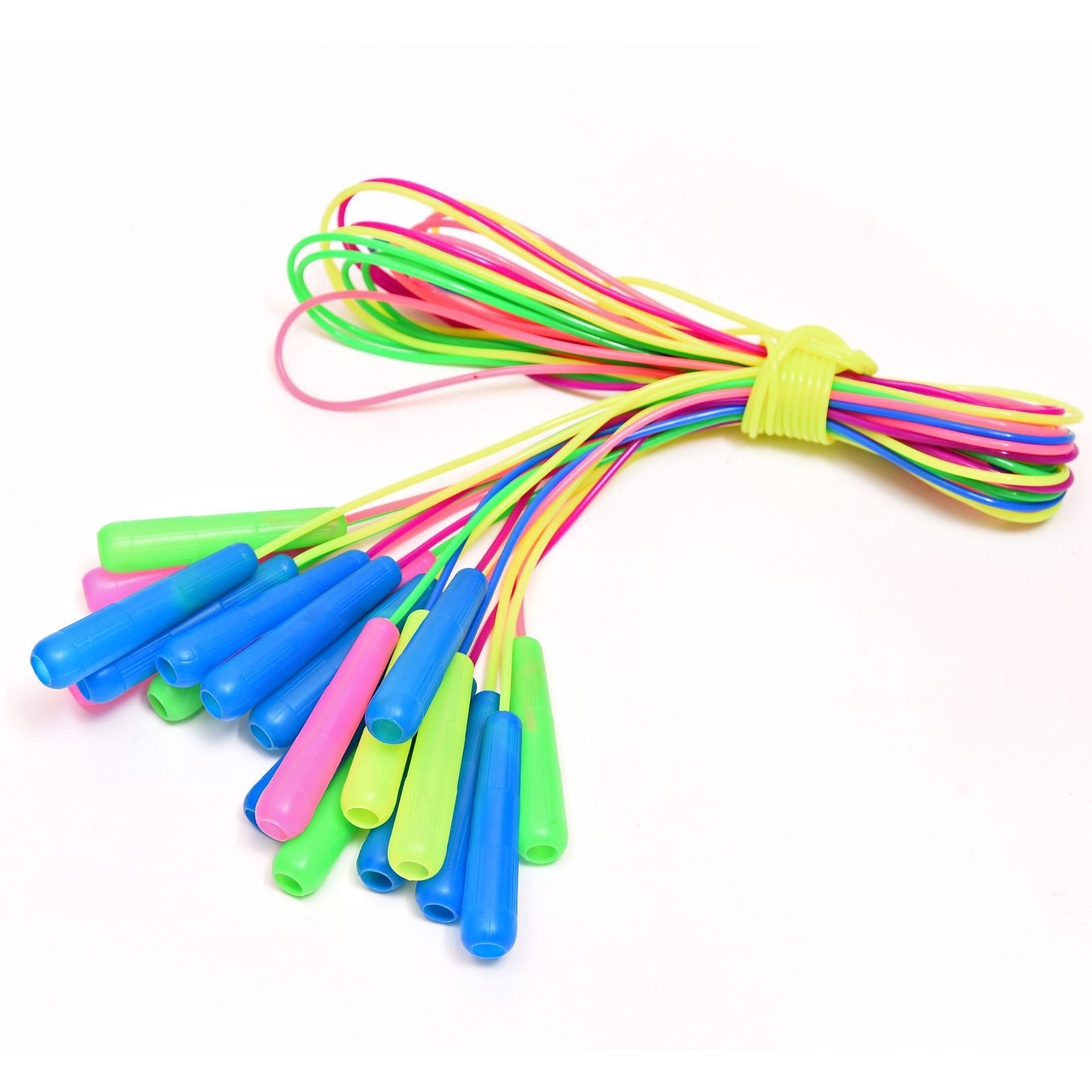 Children Fitness Plastic Hollow Handle Jump Rope Sports Examination Exclusive PP Sports Jump Rope Fructose Color Jump Rope
