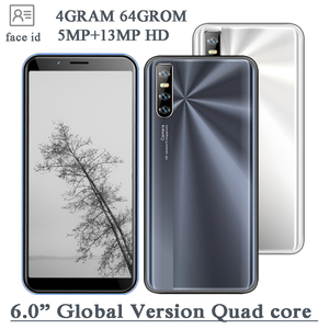 4G RAM Smartphones 64G ROM Full Screen Quad Core MT6580 Android Mobile Phone 9C 6.0inch 13MP HD camera Face Unlocked Cellphone