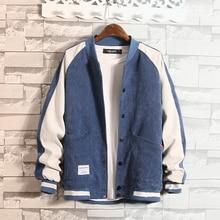 Mens Stand Baseball uniform College Patchwork Jacket Coat Men OverSized Bomber Jacket Men Warm windbreaker  streetwear Autumn