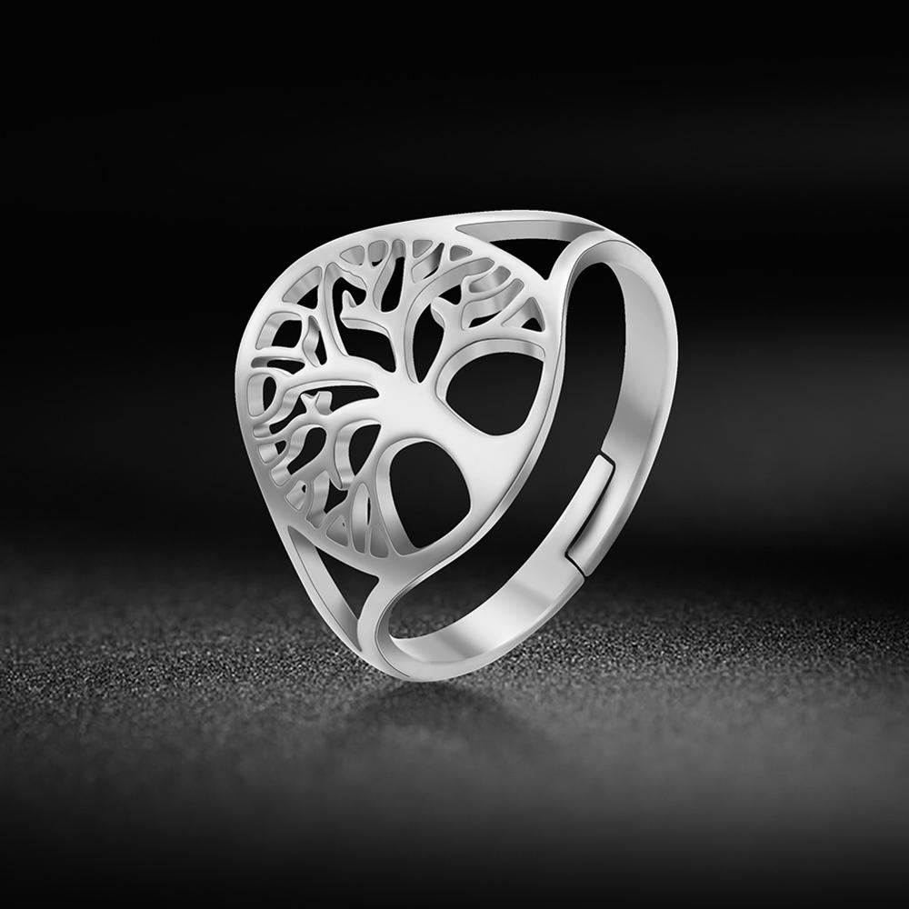 Skyrim arbre de vie anneau réglable Viking acier inoxydable couleur or bagues bijoux anniversaire cadeaux pour femmes fille 2021