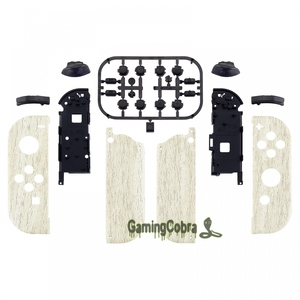 Image 2 - Pine Wood Grain Controller Housing with Full Set Buttons DIY Replacement Shell Case for NS JoyCon   CS208