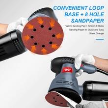 400W Random Orbit Sander 5-Inch Variable Speeds Electric Sander Polisher with Holes Cushion Sandpapers Sponge Wool Cotton Plate