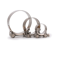 1pcs universal Motorcycle exhaust pipe clip 17-79mm Stainless Steel Hose Clamps Welding Marine Clip Repair Tool
