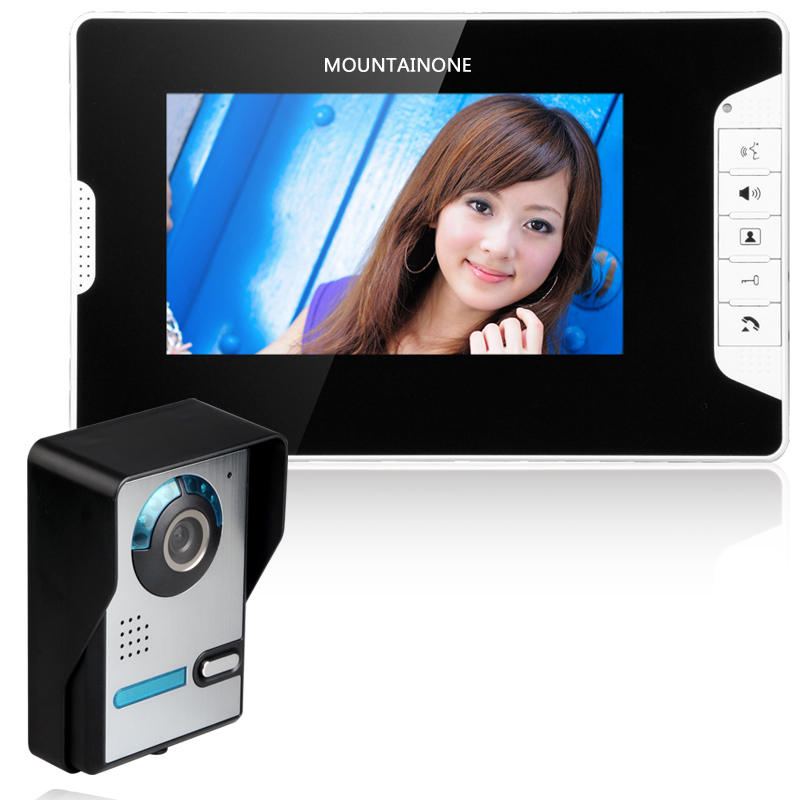 Doorbell-Phone Entry-System-Kit Wired Video Building-Apartment Ir-Camera Home Villa