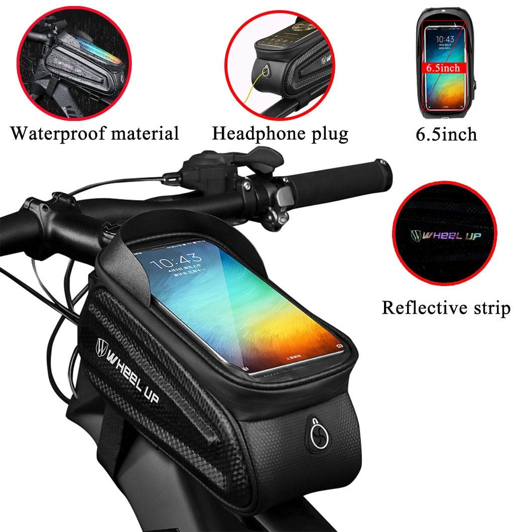 Waterproof Bicycle Bag Front Phone Bike Frame Bag Holder Eva Tpu Bike Bag Cellphone Below 6.5inch Для Велосипеда Ju6