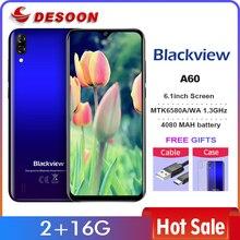 Camera Hành Trình Blackview A60 Điện Thoại Thông Minh 4080MAh Pin 19.2:9 6.088 Inch RAM 2GB ROM 16GB Hệ Điều Hành Android 8.1 13MP + 5MP Máy Ảnh Điện Thoại Di Động