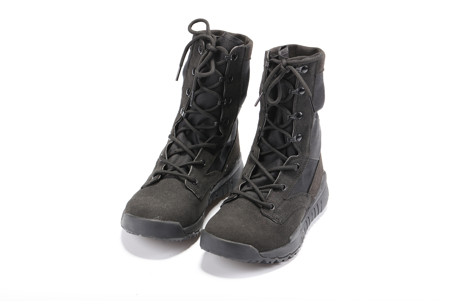 Ultra-Light Combat Boots Black Velvet Spring And Autumn Combat Boots SFB Canvas Breathable Boots CS Hight-top Combat Boots Outdo