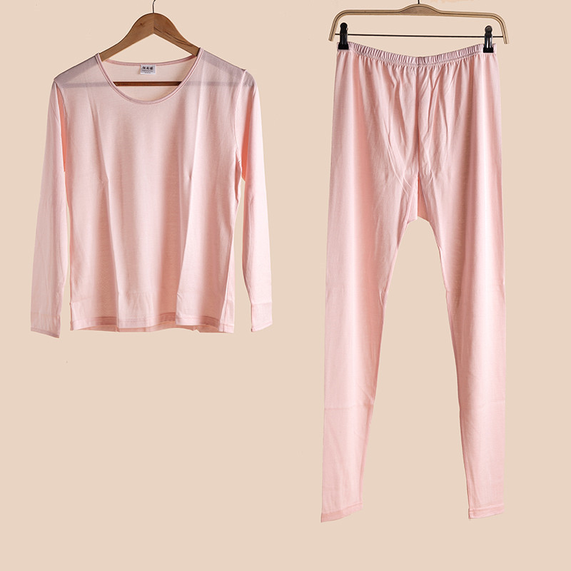 Autumn and Winter Mulberry Silk Women's Underwear Silk and Cotton Women's Knitted Warm Suit Women's Autumn Clothes Long Trousers
