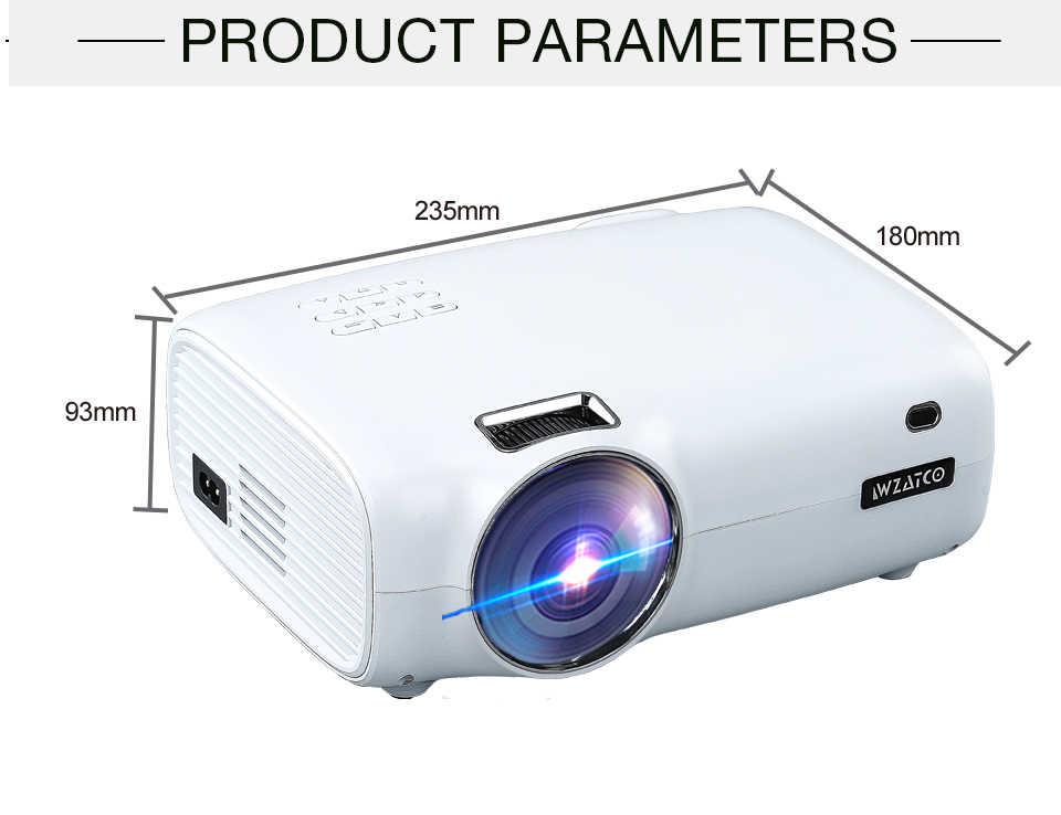 WZATCO E600 안 드 로이드 10.0 Wifi 스마트 휴대용 미니 LED 프로젝터 지원 풀 HD 1080p 4K AC3 비디오 홈 시어터 비머 Proyector