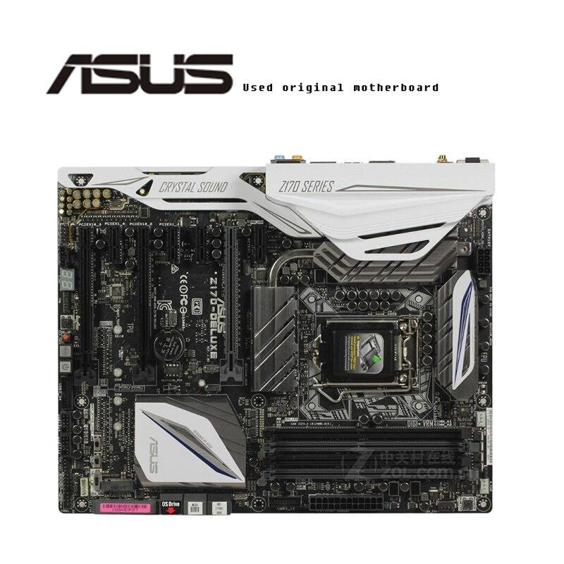 For ASUS Z170-DELUXE Original Motherboard Socket LGA1151  DDR4 Z170 Desktop Motherboard