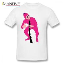 лучшая цена Pink Guy T Shirt Filthy Frank Pink Guy T-Shirt Graphic 5x Tee Shirt Male Funny Short Sleeves Casual 100 Percent Cotton Tshirt