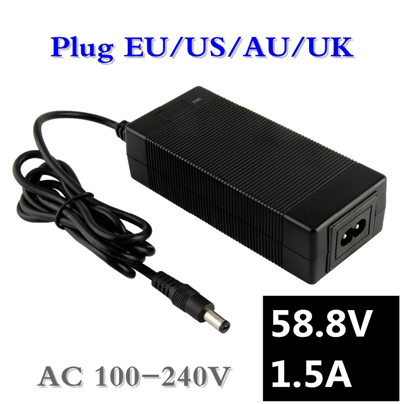 58.8V1.5A Charger 58.8v 1.5A Electric Bike Lithium Battery Charger For 14S Lithium Battery Pack