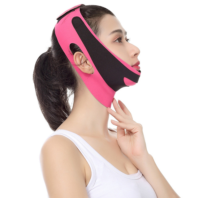 Elastic Face Slimming Bandage V Line Face Shaper Women Chin Cheek Lift Up Belt Facial Massage Strap Face Skin Care Beauty Tools 1