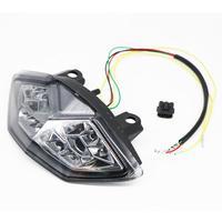 Para kawasaki z1000 10-13 sinais de volta de freio luz traseira da cauda integrado chrome led luz