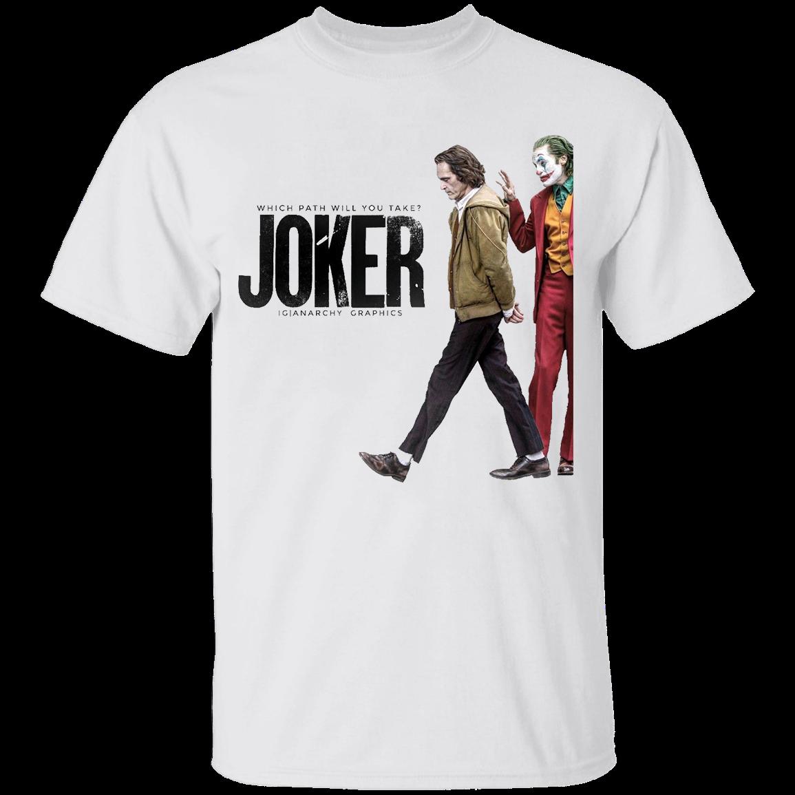Men's The Joker Joaquin Phoenix 2019 Hot Tee Black T-Shirt S-3XL Men Women Unisex Fashion Tshirt Free Shipping
