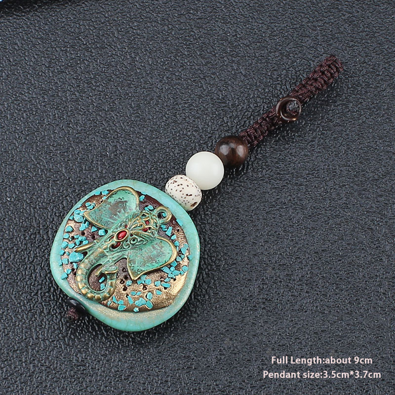 Antique Bronze Key Chains&Key Rings Vintage Elephant OHM OM AUM Buddha Pendant Keychain Car Key Holder Key Chain Yoga Jewelry