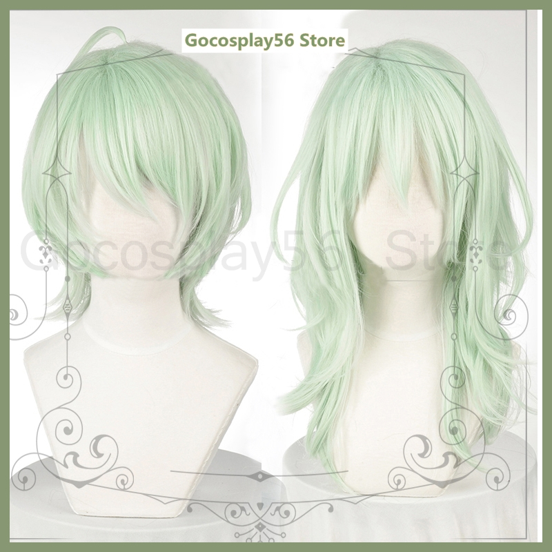 NEW COLOR Fire Emblem ThreeHouses Byleth Wig Mint Short Long Cosplay Synthetic Hair Curls Light Green Halloween Role Play