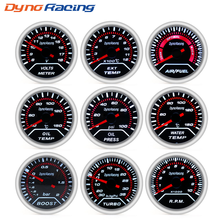 "Dynoracing 2 ""52mm Auto turbodrukmeter bar psi Exhaust gas temp water temp olie temp olie druk Air brandstof gauge voltmeter toerenteller(China)"