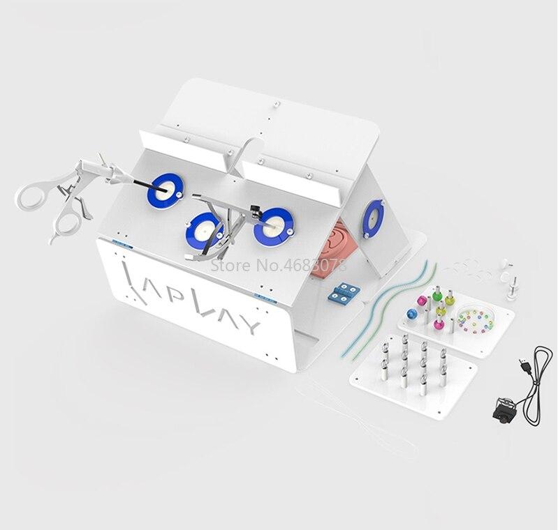Un set completo di Chirurgia Laparoscopica Box Training Simulato Apparecchi Chirurgici Strumento Trainer Strumento Chirurgico