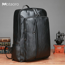 цена на Man Backpacks Leather Men's Backpack Women 15 Inch Laptop Backpack Male Bags Waterproof Business Travel Bag Sac A Dos Mochilas