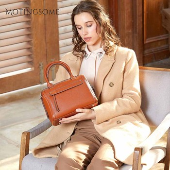 Fashion Style Genuine Leather Boston Tote Bag Stylish Women Natural Leather Bag Quality Cowhide Leather Large Shopper Bags 2020