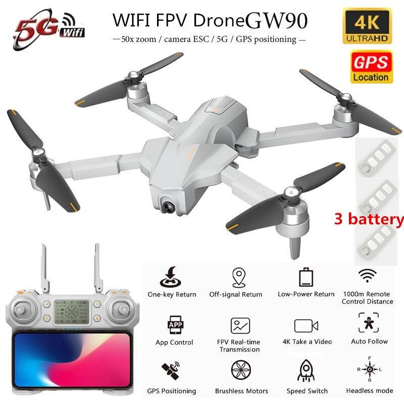 GPS 5G Professional WiFi FPV RC Drone 5G 1KM 4K ESC Camera Optical Flow GPS Positon Hover Remote Control Drone RC Quadcopter RTF