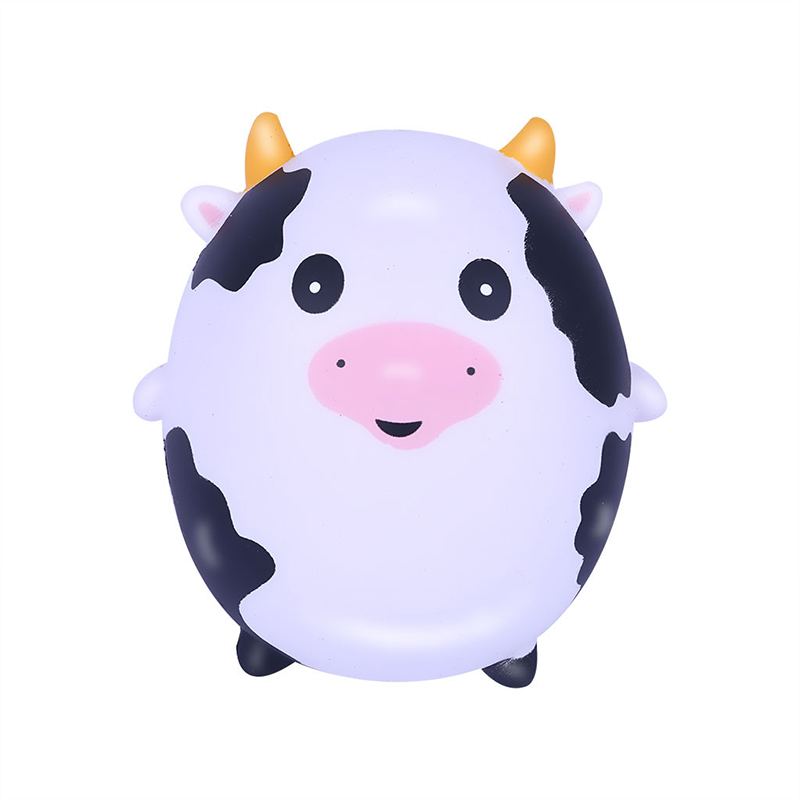 New Cute Cow Squishy Simulation Cream Scented Slow Rising Soft Squeeze Toy Stress Relief Novelty Fun For Kid Gift