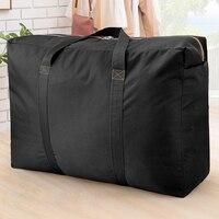Neue 130L Große Kapazität Klapp Gepäck Tasche Unisex Verdickung Oxford Tuch Reise Duffel Taschen Robust Moving Haus Lagerung Tasche