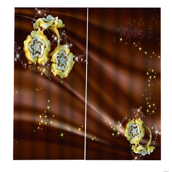 luxury curtains European style Jewelry flowers window curtain for Living room bedroom home goods 3D Blackout curtains