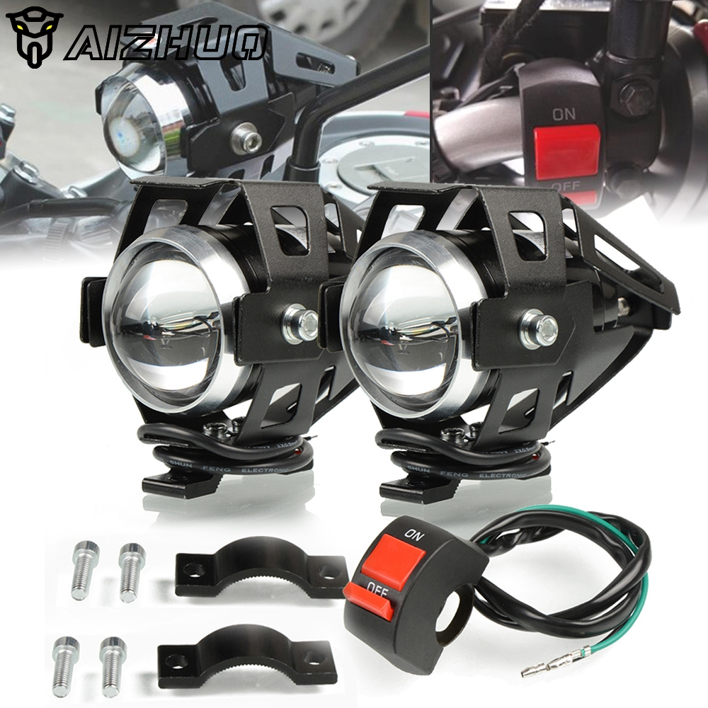 FOR <font><b>HONDA</b></font> Shadow 600 750 1100 CRF250L <font><b>NC750X</b></font> NC750D CB1300 CB400 Motorcycle Headlights U5 Headlamp Spotlights Fog Head <font><b>Light</b></font> image