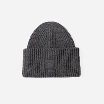 2020 New Acne unisex women's autumn and winter hats Angora100% double layer warm hat Skulies wool hat Warm knitted hat 17