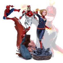 Endgame 22-27 centímetros Vingadores Thanos Figura ironman spiderman Superhero Spider man Hulk Figura de Ação DO PVC(China)