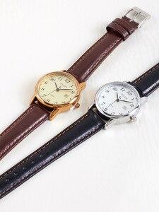 Image 4 - Üst Julius kadın İzle Japonya Kuvars Saat Otomatik Tarih Ince Moda Saat Deri Kayış kızın Retro Doğum Günü Hediye kutu 508