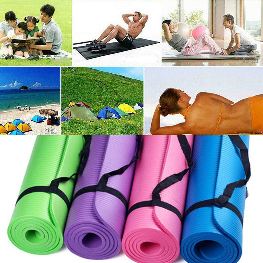 Durable Portable Solid Non-Slip Soft Fitness Purple, Black, Blue, Green, Rose Red Yoga Mat Yoga,