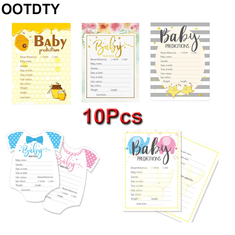 10 Pack Advice and Prediction Cards for Baby Shower Game Parent Message Advice Book Fun Gender Neutral Shower Party image