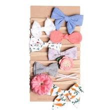 1 шт., несколько стилей, 10 цветов, Детская повязка на голову с цветком, тканевая лента для волос, головные уборы, аксессуары для волос