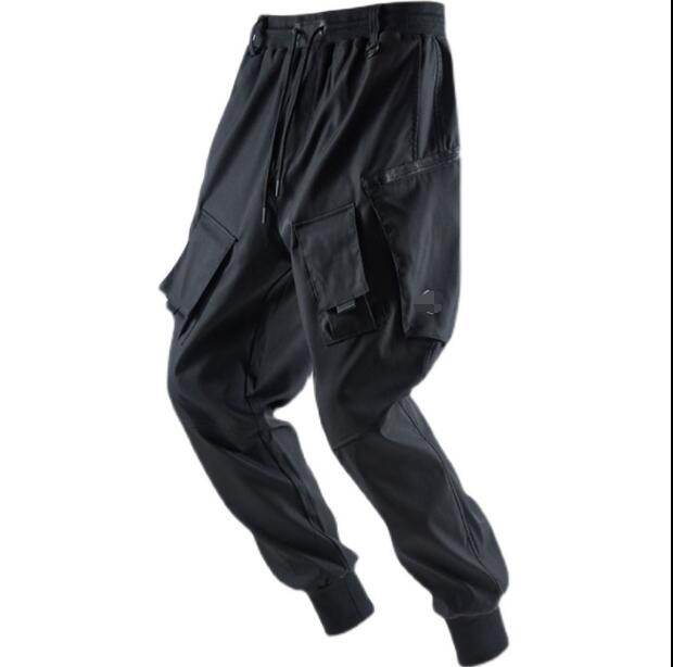 HOT Men's loose-fitting feet new tooling casual trousers European and American fashion brand personality trousers