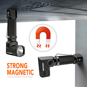 Image 5 - NICRON Led Flashlight Handfree Dual Fuel 90 Degree Twist Rotary Clip 600LM Waterproof Magnet Mini Lighting LED Torch Outdoor N7
