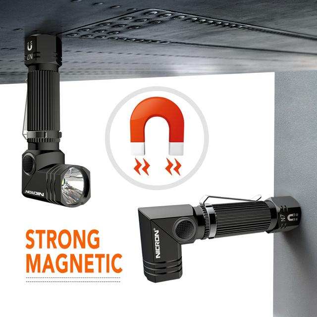 NICRON Led Flashlight Dual Fuel