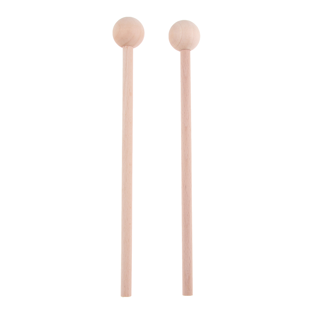 2 Pairs Wooden Xylophone Marimba Drum Stick Mallets Percussion Parts Long+Short