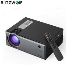 Blitzwolf BW VP1 LCD 프로젝터 2800 루멘 지원 1080P 입력 다중 포트 원격 제어와 휴대용 스마트 홈 시어터