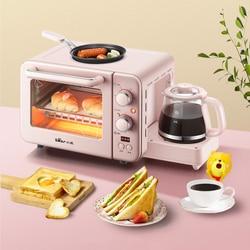 3 In 1 Breakfast Makers Small Electric Oven 8L Milk Heating Bread Breakfast Machine Toaster Oven Coffe Pizza Maker Water Kettel