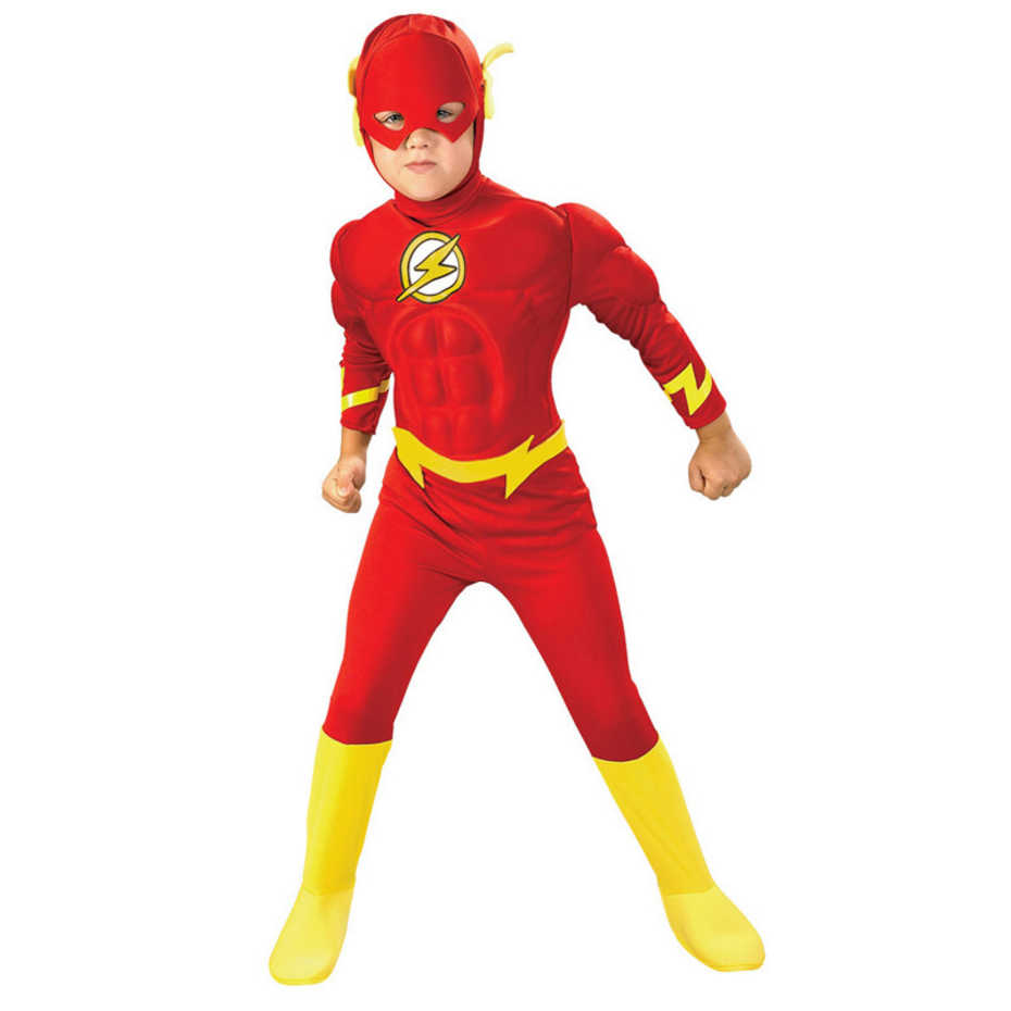 Junge Die Flash Muscle Superhero Anzug Karneval Party Phantasie Kleid Fantasia Comics Film Halloween Cosplay Kostüme