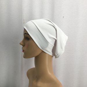 Модный женский головной платок, растягивающийся хлопковый хиджабы под шарф, черный дышащий внутренний хиджабы, мусульманская повязка на го...