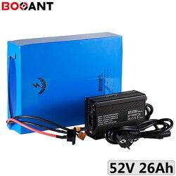 14S 10P 52V 26Ah batterie de vélo électrique pour 48V 500W 750W 1000W 1500W kits de moteur 52V ebike lithium ion batterie + 5A chargeur