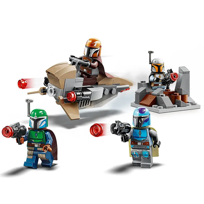 For legoelys STAR WARS Mandalorian Boba StarWars IG-88 R2D2 Darth Vader Yoda Baby Leia Luke Rey Jango Fett Building Blocks Toys