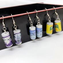 1 pair Juice Bottle Fruit Drink Women Earring Minimalism Cartoon Design Resin Birthday Gift Drop Dangle Fashion Jewelry
