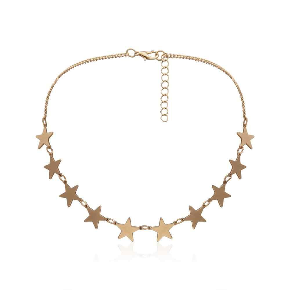 KMVEXO בציר רב שכבתי אהבת לב תליון קולר שרשרת סט Boho זהב כוכבים ארוך שרשרת שרשראות נשים חג המולד מתנה