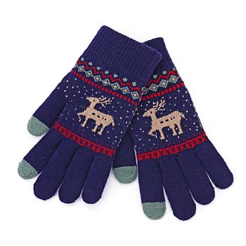 Zimowe nowe rękawiczki z ekranem dotykowym Fawn rękawiczki robione na drutach zimowe ciepłe rękawiczki słodkie rękawiczki z jelenia na zewnątrz ciepłe rękawiczki świąteczny prezent dla dziewczynek #40 tanie i dobre opinie FGHGF WOMEN Akrylowe Dla dorosłych Zwierząt Nadgarstek Moda gloves